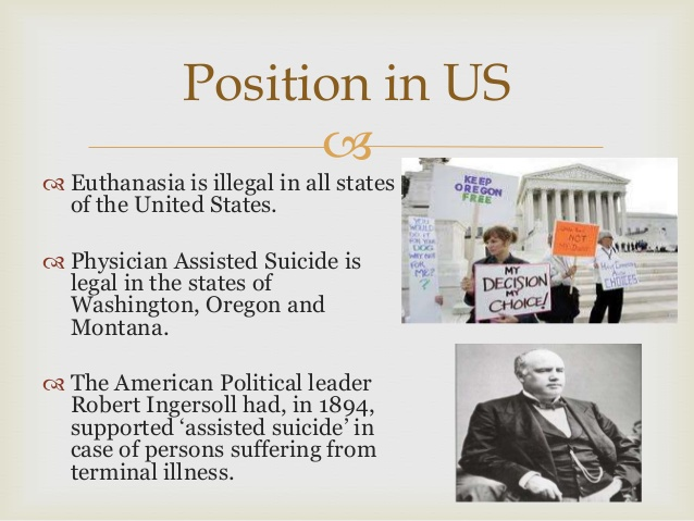 legalizing euthanasia position paper Legalize euthanasia essay a individual has the right to life why non decease these are two subjects that are debated mundane in some signifier or another there are a few topographic points in the universe that extend those options to physician assisted self-destruction ( pas ) and euthanasia.